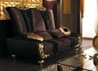 Гостиный диван с резными - позолочеными накладками Blue Diamond  Lanpas