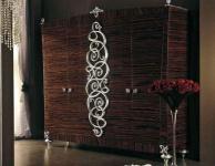 Гардеробный шкаф - зебрано - декор сусальное серебро Blue Diamond  Lanpas