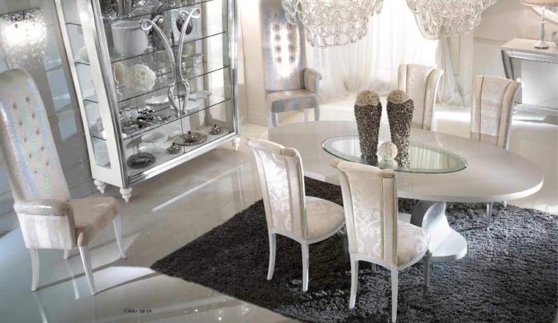 Комплект мебели для домашней столовой - неоклассика Ellelux