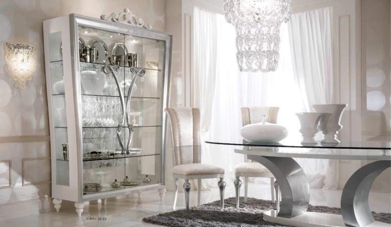 Мебель для столовой - цвета слоновая кость и серебро Ellelux