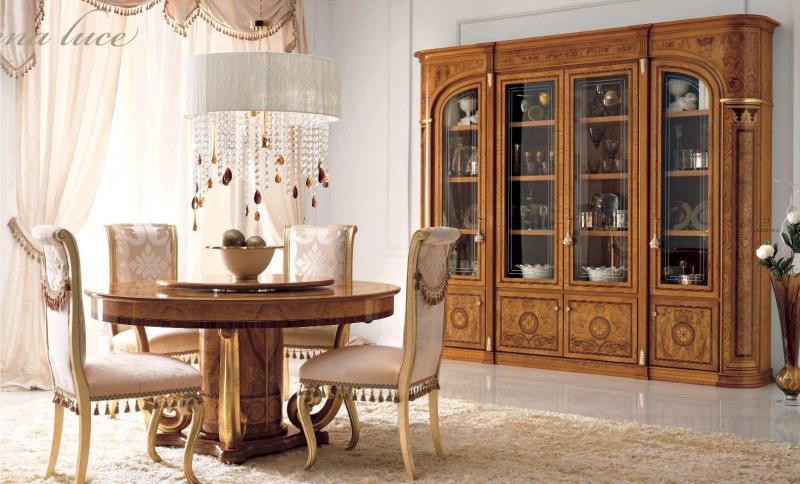 Столовая группа - круглый стол и стулья Jasmine  Valderamobili