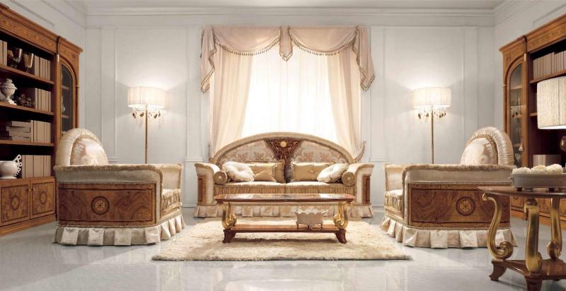 Мягкая мебель для гостиной комнаты - обивка беж Jasmine Valderamobili