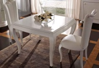 Квадратный стол - цвет белый Primavera  Valderamobili