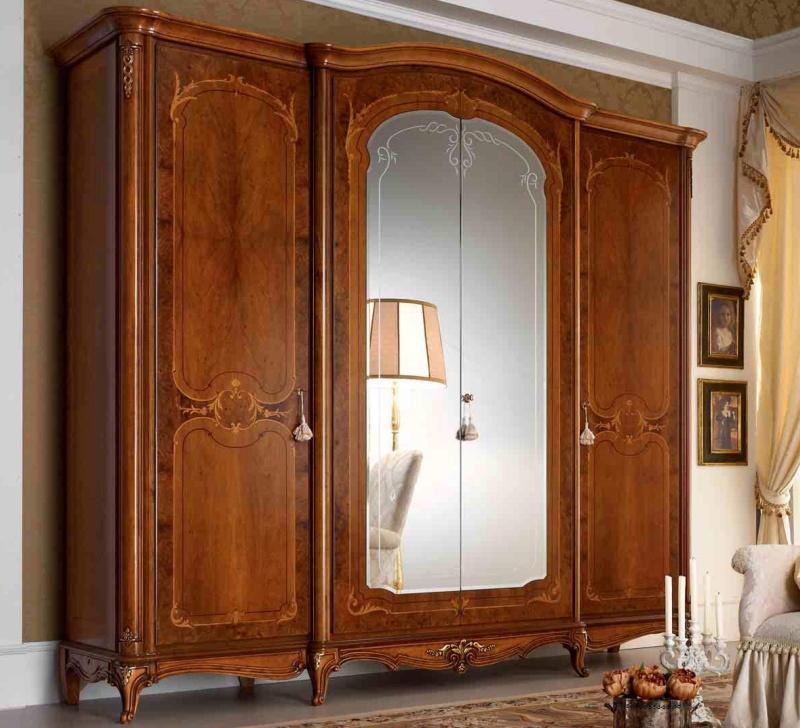 Шкаф с центральными зеркальными вставками Principe