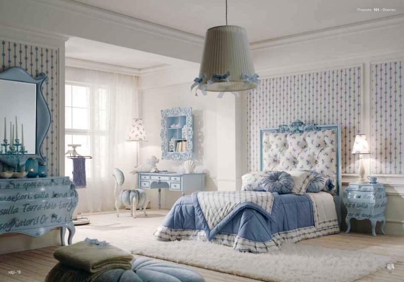 Детская мебель - отделка голубая Doroteo