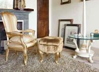 Пуф - кресло и маленький - круглый журнальный столик Day 2011