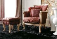 Мягкий пуф  с креслом в бордовом цвете Day 2011