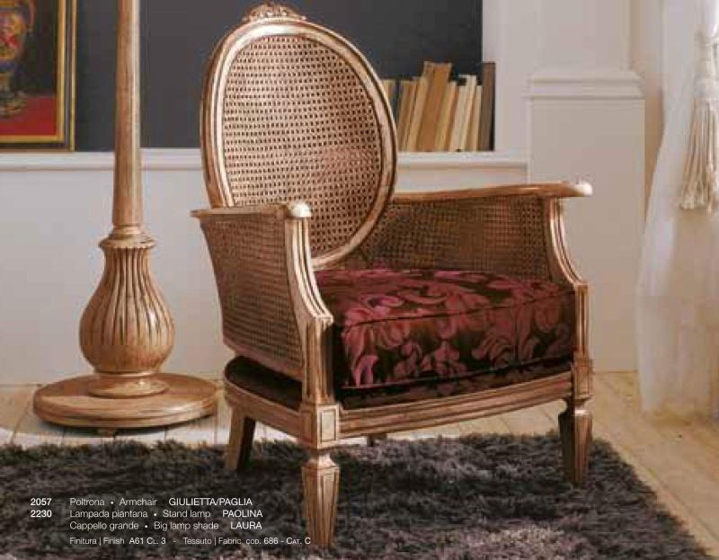 Кресло с плетеной спинкой и мягким бордовым сидением Day 2011