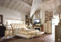 Кровать для спальной комнаты - обивка цвета слоновой кости Night 2011