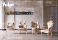Мягкая мебель с серой тканню и гобеленом Night 2011
