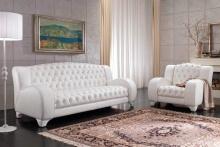 Мягкая мебель в белой коже - Altavilla Lory