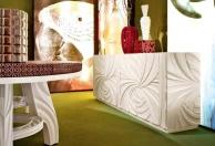 Буфет в столовую - белого цвета с орнаментованой резьбой News 2011