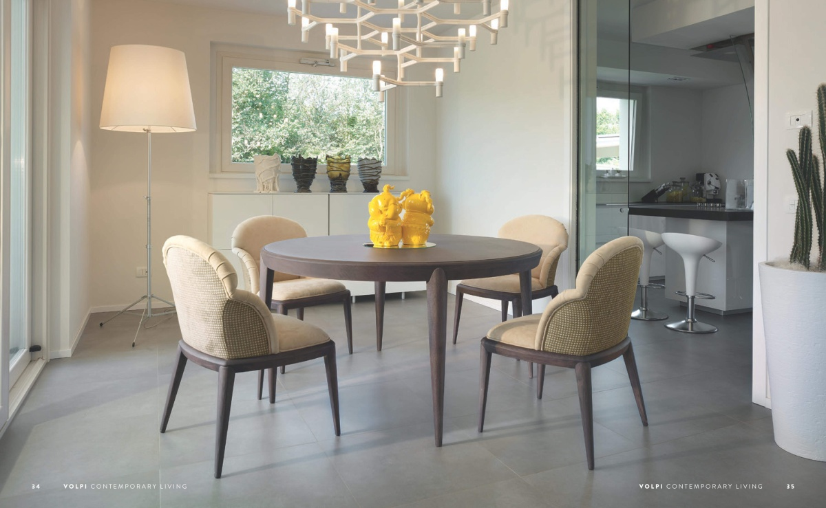 Круглый стол со стульями Volpi - Contemporary