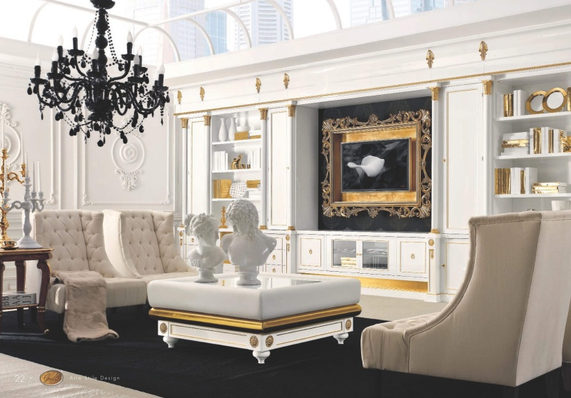 Мебель в гостиную арт деко в бежевом цвете Roma