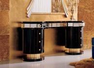 Чёрный модульный столик с зеркалом The Book