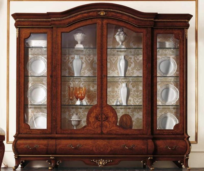 4-х дверная витрина для хранения посуды The Book