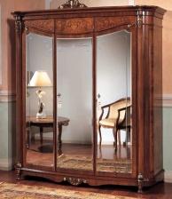 Гардеробный шкаф с зеркальными дверцами The Book