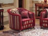 Итальянское кресло - ткань красная A Linea