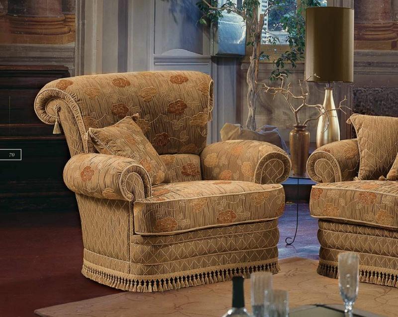 Мягкое кресло в коричневой обивке B Linea
