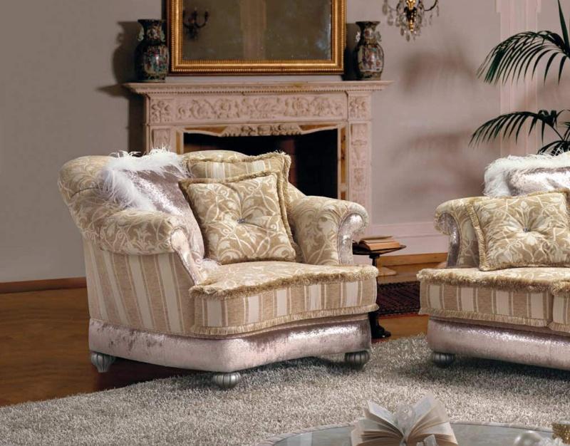 Кресло в гостиную на металических ножках - кофейного цвета B Linea
