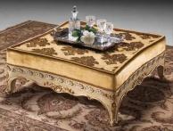 Журнальный - низкий столик с резным декором B Linea