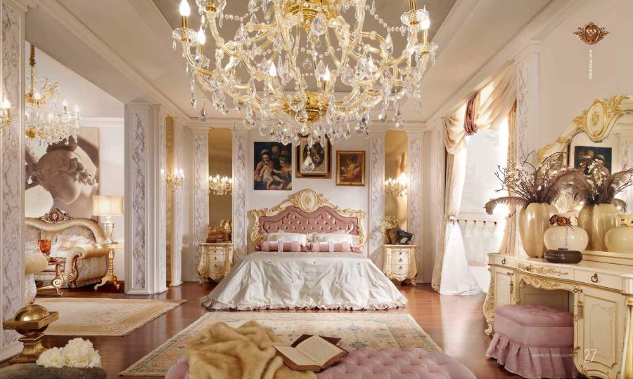 Шикарная спальня - цвет слоновая кость - Barnini Oseo Firenze
