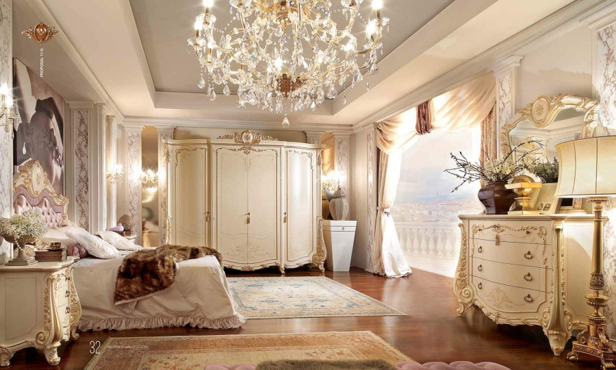 Комплект мебели для спальни - классика Barnini Oseo Firenze