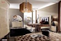 Спальня с мягким кожаным изголовьем Domus Mon Amour