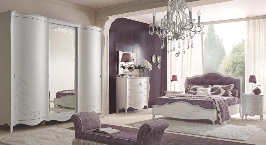 Спальня цвета аметист Signorini Coco Rubacuori laccata