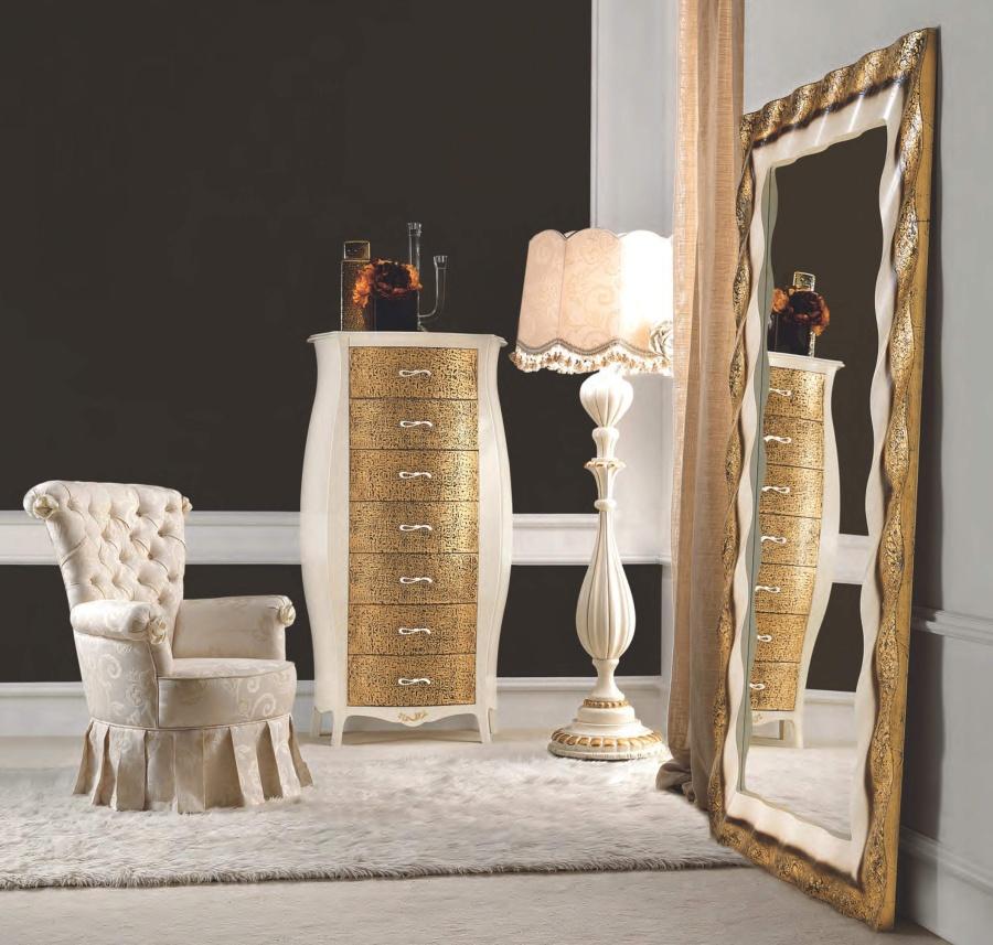 Напольное зеркало с золотым напылением Signorini Coco Gruppi