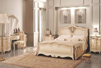 Кровать с декоративной резьбой Signorini Coco Partenope