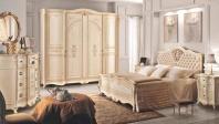 Двуспальная кровать с изголовьем капитоне Signorini Coco Partenope