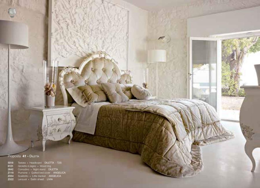Кровать с мягким изголовьем капитоне Volpi Diletta