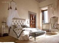 Кровать с резным изголовьем Volpi Angelica