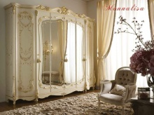 Шкаф с зеркальным центральным элементом Alberto Mario Ghezzani -Monnalisa
