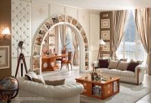 Мягкая мебель в белой коже Caroti Stella Marina