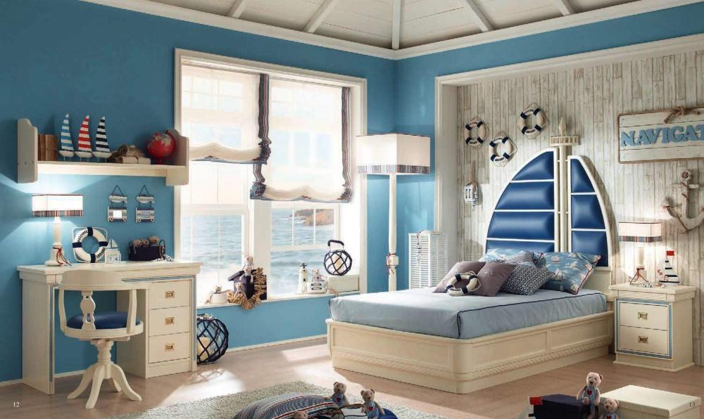 Кровать с изголовьем в форме паруса Caroti Stella Marina