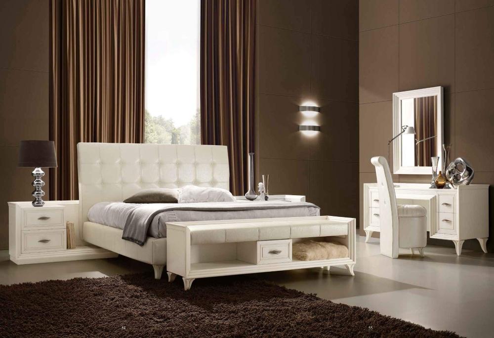 Кровать в светлой коже Ferretti e Ferretti - Today