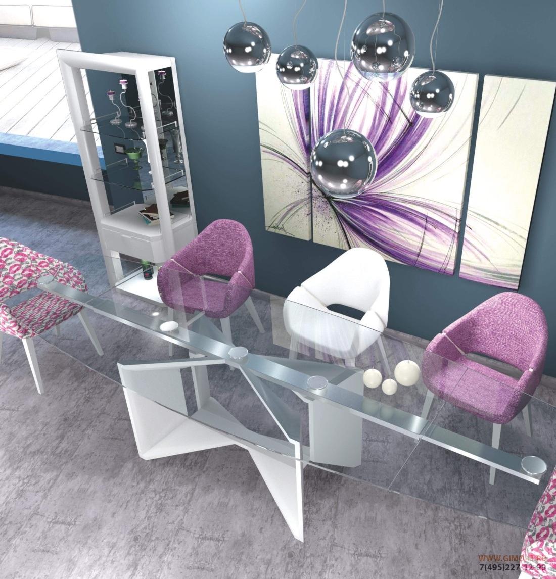 Стол со стеклянной столешницей Domus - Susanne