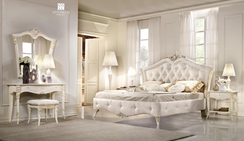 Кровать в светлой обивке Antonelli Moravio & C - Vittoria