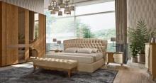 Кровать с обивкой капитоне Grilli - Cloe