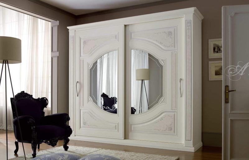 Шкаф с 2-мя раздвижными дверьми и зеркальными вставками Armadi