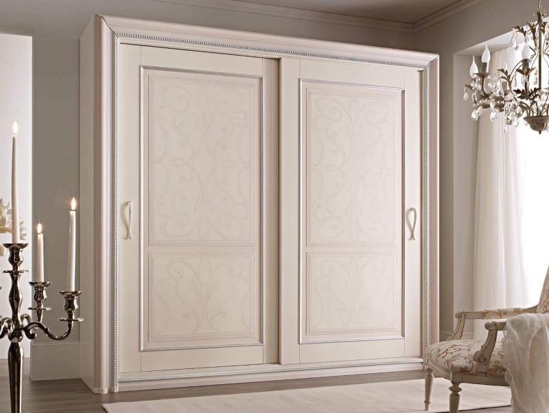 Большой роздвижной 2-х дверный шкаф классического стиля Camere