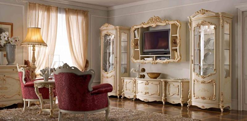 Итальянская мебель для ТВ - стиль барокко - AGM Royal