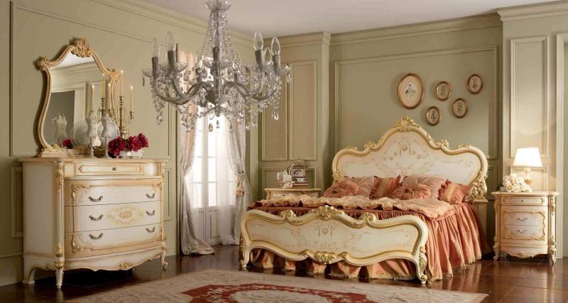 Гарнитур для спальни цвет бежевый стиль классический Prestige