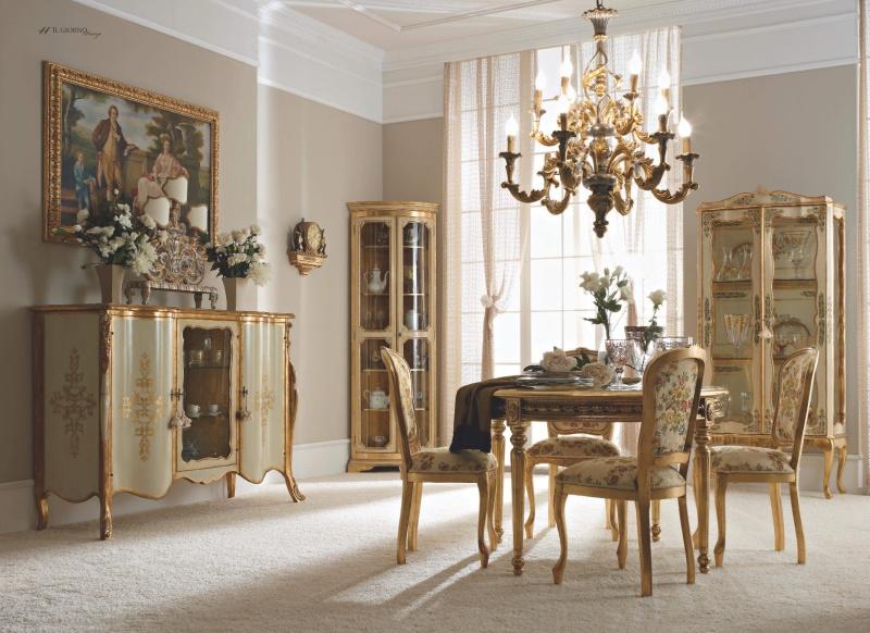 Мебель для столовой белая с золотом - IL Giorno