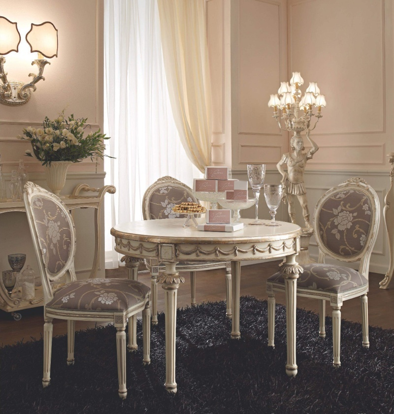Компактный столовый столик со стульями в классическом стиле Giorno