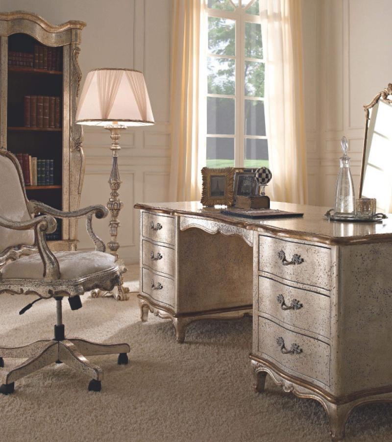 Письменный стол и вращающийся стул на роликах Giorno