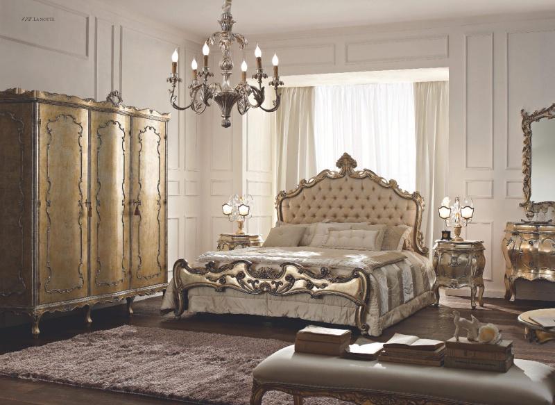 Классическая спальня - цвет золото - La Notte