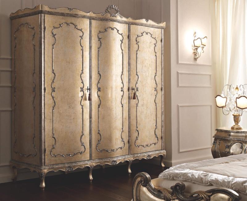 Шкаф золотой - стиль классический - La Notte